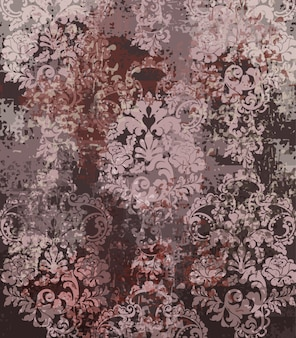 Patrón de textura rococó