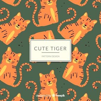 Patrón tigre adorable