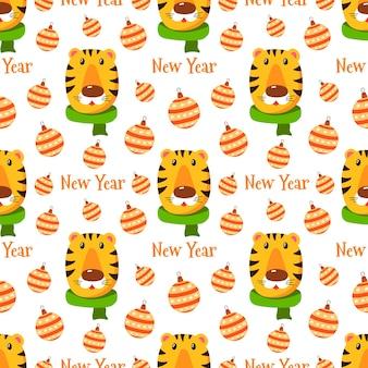 Patrón de tigre de año nuevo