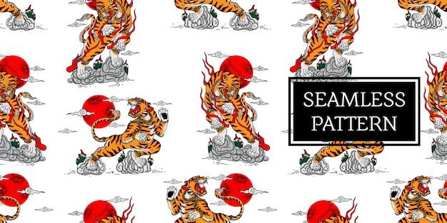 Patrón de tigre balinés