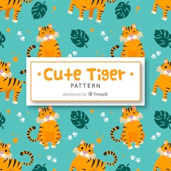 Patrón tigres monos