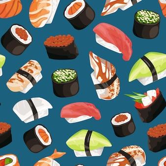 Patrón de tipos de sushi