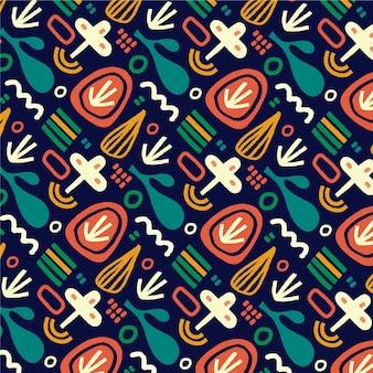 Patrón tradicional colorido festival holi