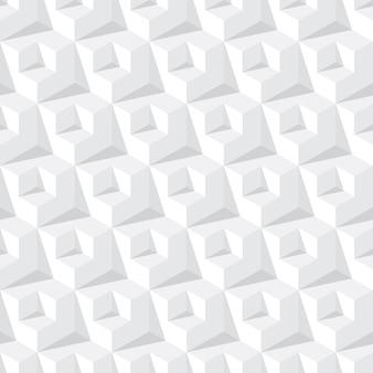Patrón transparente abstracto cubo gris