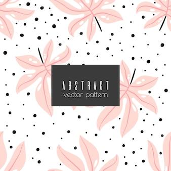 Patrón transparente abstracto floral