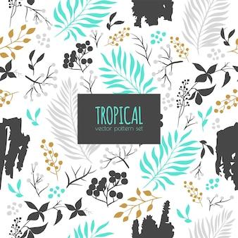 Patrón transparente abstracto tropical