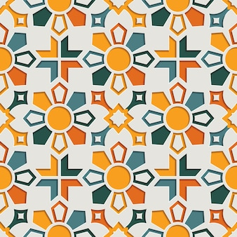 Patrón transparente arabesco abstracto geométrico islámico para ramadán kareem. fondo de estilo de papel con motivo este