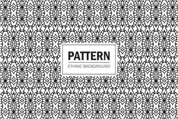 Patrón transparente azteca tribal. fondo geométrico con motivos étnicos. diseño en estilo boho para imprimir en textil o papel.