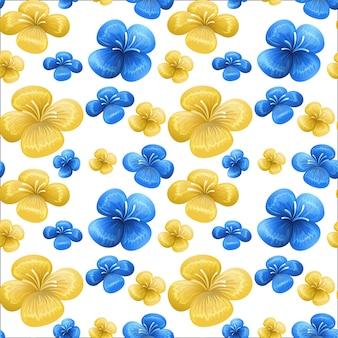 Patrón transparente azul y amarillo