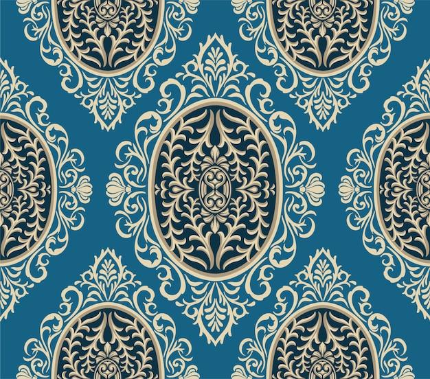 Patrón transparente azul clásico