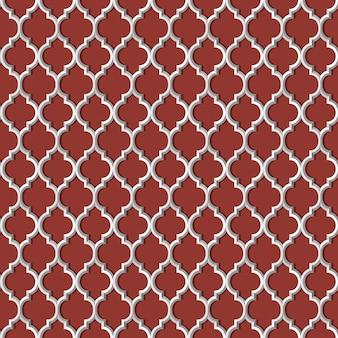 Patrón transparente blanco 3d en estilo árabe