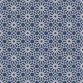 Patrón transparente blanco en estilo árabe