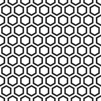 Patrón transparente blanco y negro con hexágono