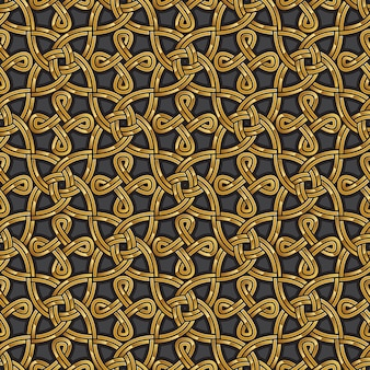 Patrón transparente celta oro brillante
