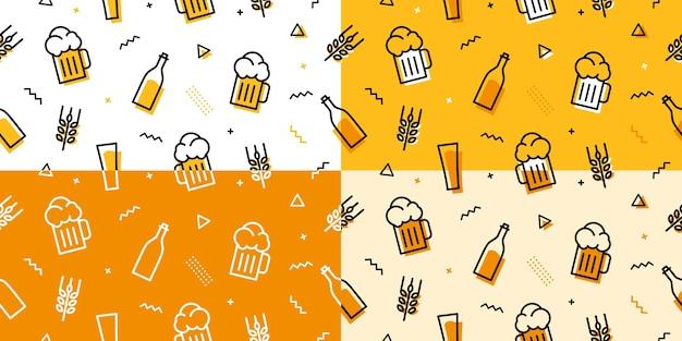 Patrón transparente de cerveza