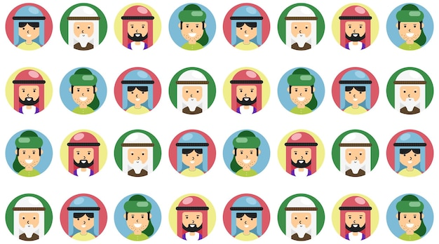 Patrón transparente de colores de los musulmanes para la plantilla de fondo imprimible.