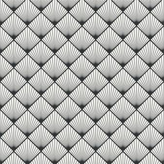Patrón transparente de conchas metálicas de ocean wave minimalista