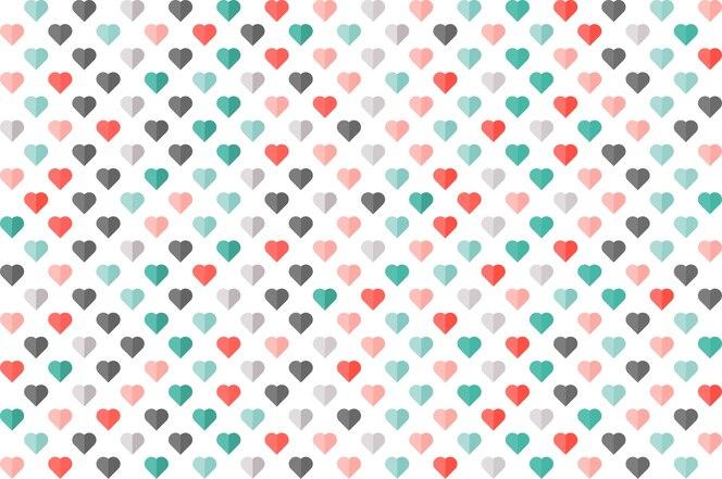 Patrón transparente de color corazón. fondos de pantalla, tarjetas, pancartas, negocios.
