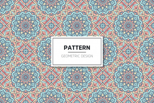 Patrón transparente de diseño de mandala ornamental de lujo