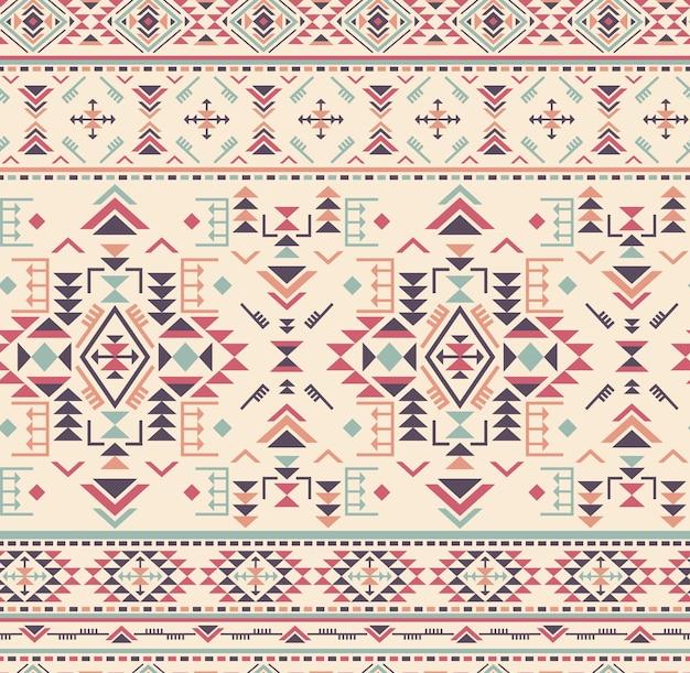 Patrón transparente étnico colorido con formas geométricas