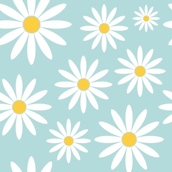 Patrón transparente floral abstracto con dibujado a mano, moda dibujado a mano texturas flor de margarita