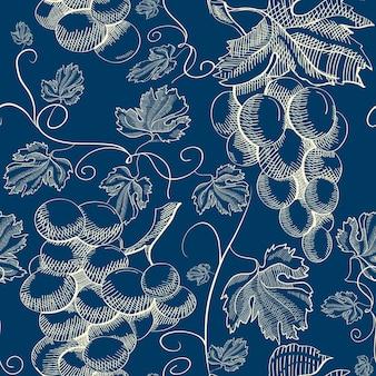 Patrón transparente floral abstracto