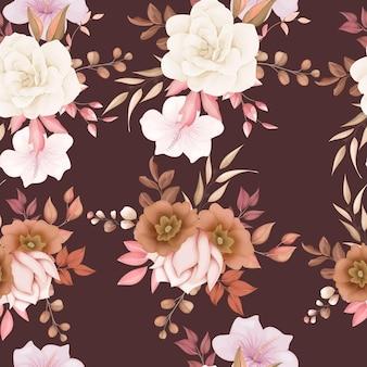 Patrón transparente floral elegante
