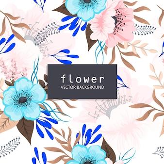 Patrón transparente floral de fondo