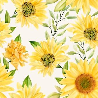 Patrón transparente floral romántico