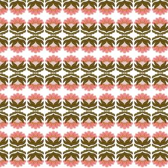 Patrón transparente floral tradicional para tela vestir de fondo