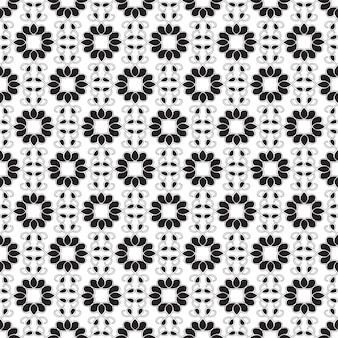 Patrón transparente geométrico abstracto con estructura repetitiva en ilustración de estilo monocromo minimalista