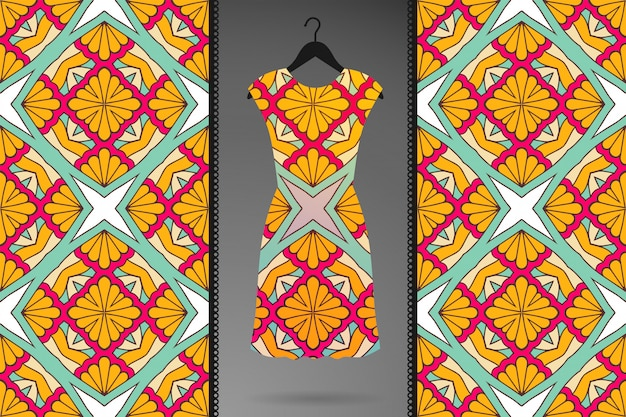 Patrón transparente de mandala ornamental de lujo en color dorado