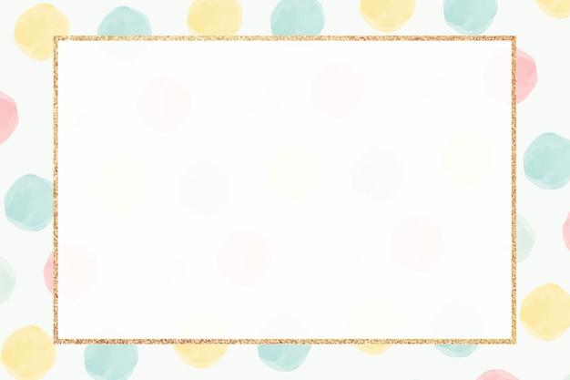 Patrón transparente de marco dorado colorido en blanco vector gratuito