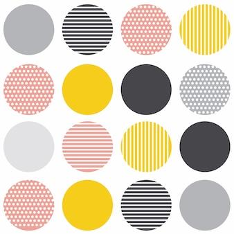 Patrón transparente moderno geométrico escandinavo