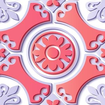 Patrón transparente ornamental floral