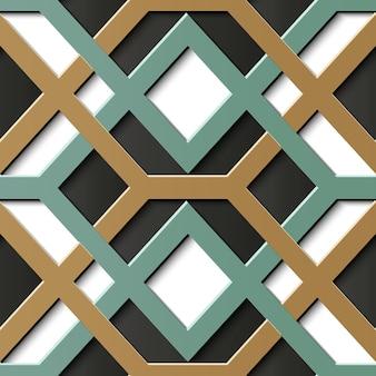Patrón transparente ornamental geométrico