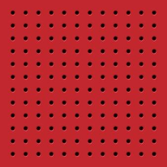 Patrón transparente rojo perforado