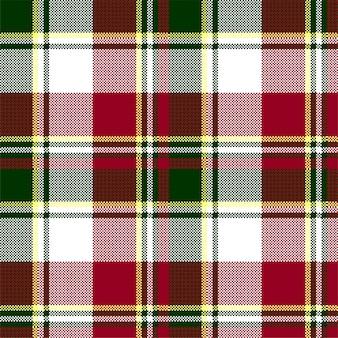 Patrón transparente de textura a cuadros verde rojo