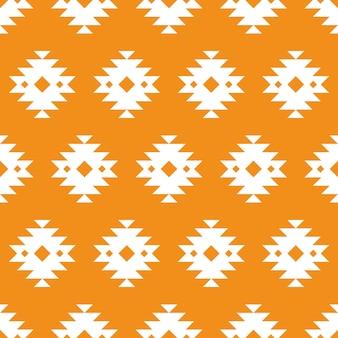 Patrón transparente tradicional azteca naranja
