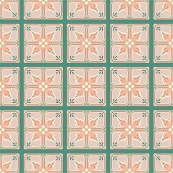 Patrón transparente de vector con adornos orientales