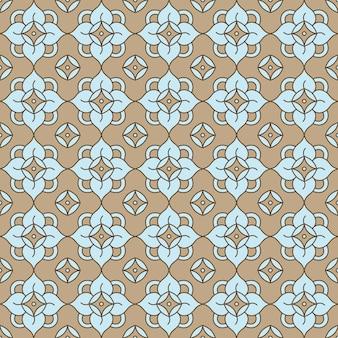 Patrón transparente de vector con flores