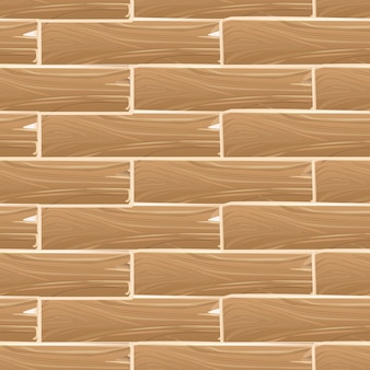 Patrón transparente de vector de tablero de madera tablones