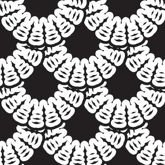 Patrón transparente de vector vintage blanco y negro, papel tapiz. textura clásica elegante. adorno de lujo. elementos reales, victorianos, barrocos. ideal para telas y textiles, papel tapiz o cualquier idea deseada.