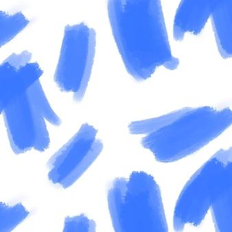 Patrón de trazo de pincel azul abstracto