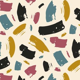 Patrón de trazo de pincel colorido abstracto