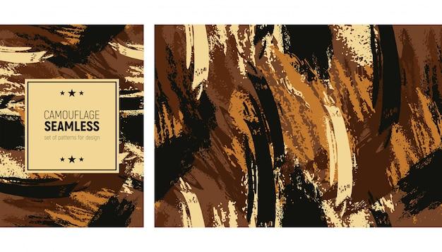 Patrón de trazo de pincel sin costuras. fondo moderno de camuflaje