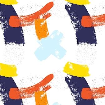 Patrón de trazo de pincel de estilo abstracto