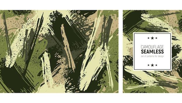 Patrón de trazo de pincel transparente. fondo de camuflaje