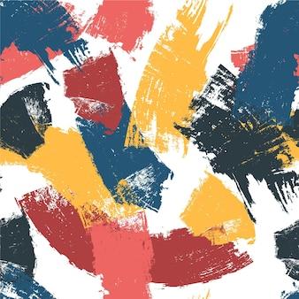 Patrón de trazos de pincel coloreado