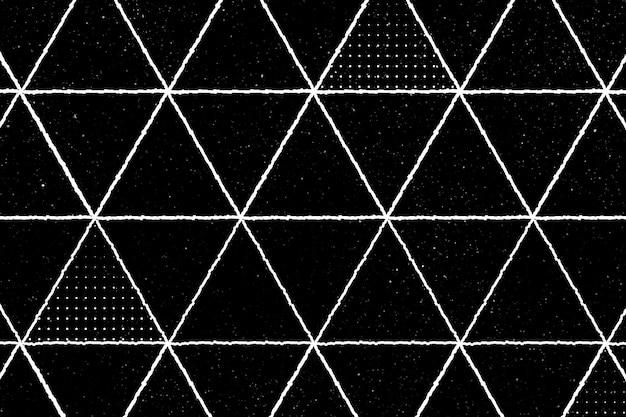 Patrón de triángulo 3d sin costuras sobre un fondo negro